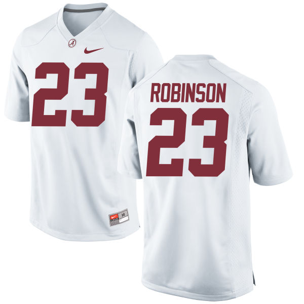 Men's Nike Aaron Robinson Alabama Crimson Tide Game White Jersey