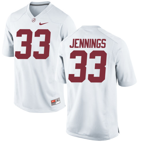 Men's Nike Anfernee Jennings Alabama Crimson Tide Game White Jersey