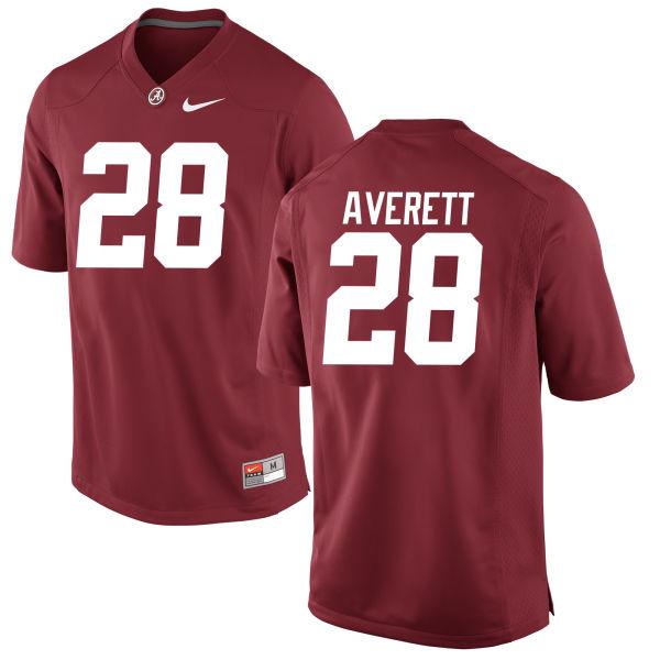 Men's Anthony Averett Alabama Crimson Tide Authentic Crimson Jersey