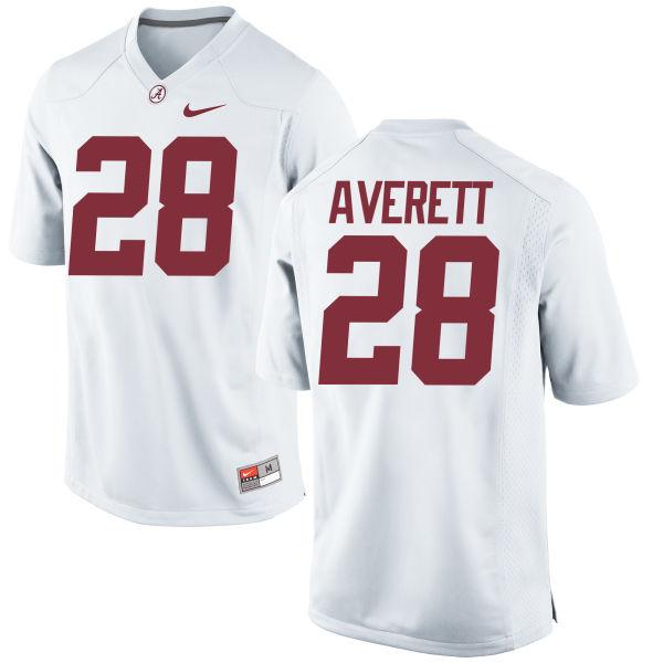 Men's Nike Anthony Averett Alabama Crimson Tide Authentic White Jersey