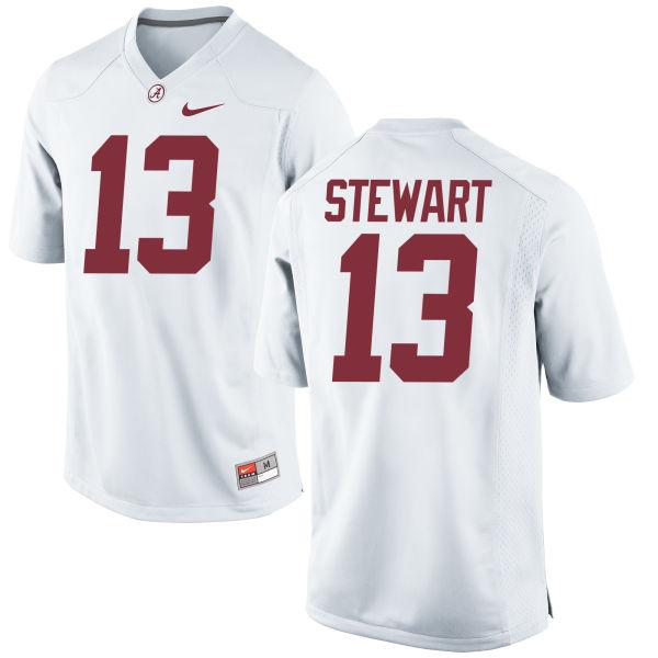 Men's Nike ArDarius Stewart Alabama Crimson Tide Replica White Jersey
