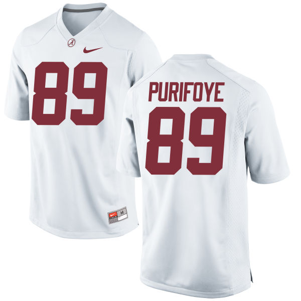 Men's Nike Armani Purifoye Alabama Crimson Tide Replica White Jersey