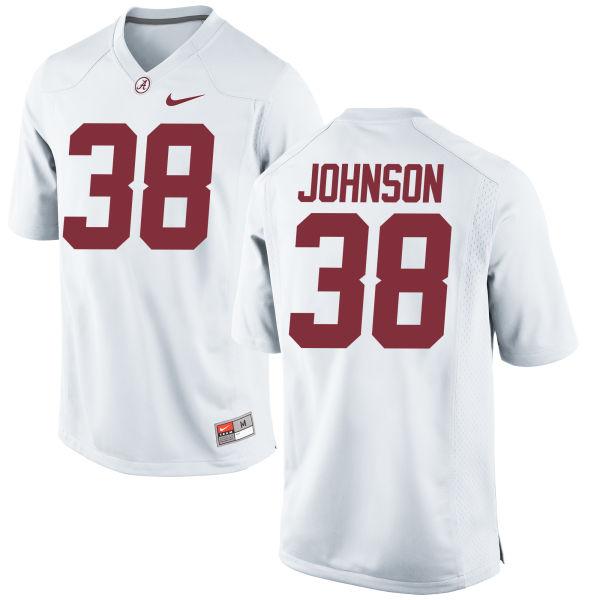 Men's Nike Austin Johnson Alabama Crimson Tide Game White Jersey