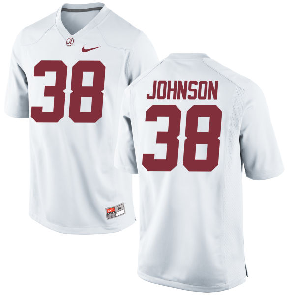 Youth Nike Austin Johnson Alabama Crimson Tide Game White Jersey
