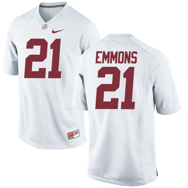 Men's Nike B.J. Emmons Alabama Crimson Tide Game White Jersey