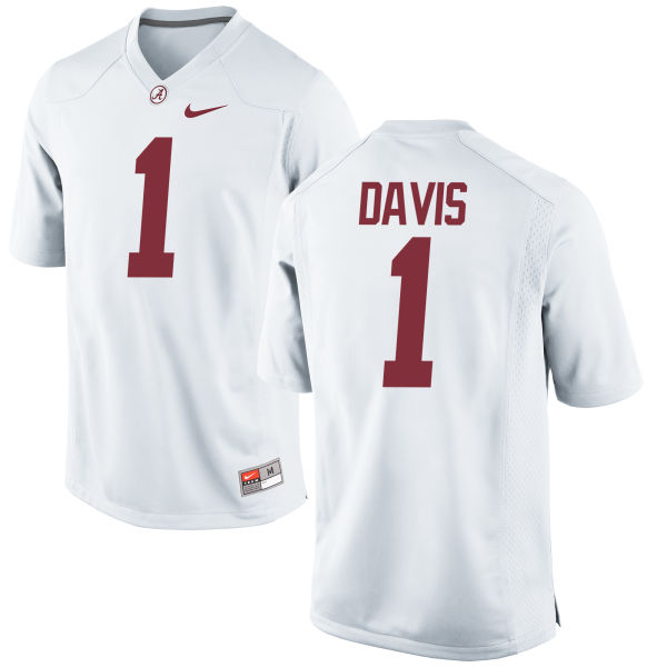 Men's Nike Ben Davis Alabama Crimson Tide Game White Jersey