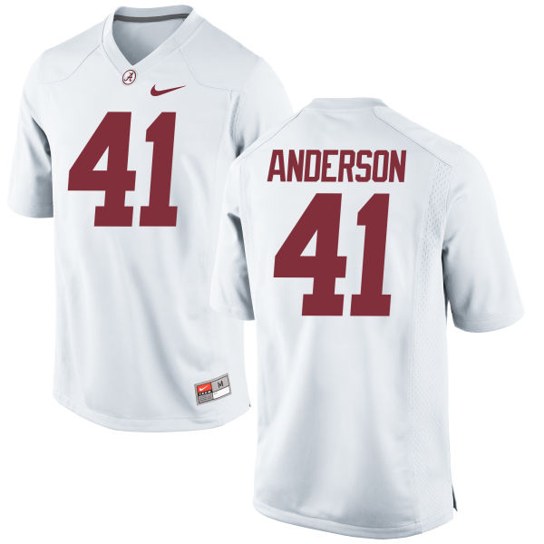Men's Nike Blaine Anderson Alabama Crimson Tide Replica White Jersey