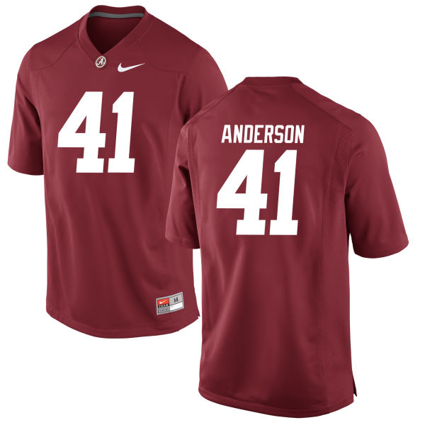 Men's Blaine Anderson Alabama Crimson Tide Game Crimson Jersey