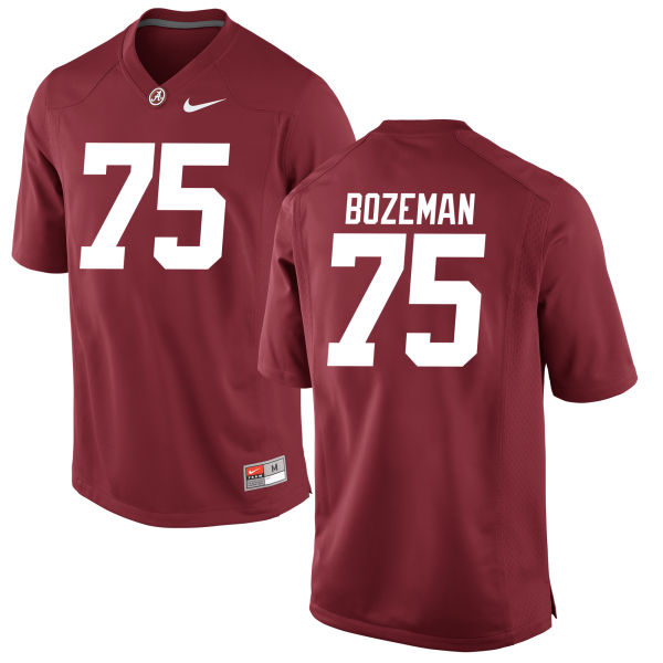 Men's Bradley Bozeman Alabama Crimson Tide Game Crimson Jersey