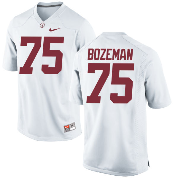 Men's Nike Bradley Bozeman Alabama Crimson Tide Game White Jersey