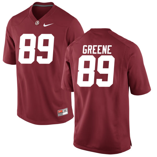 Men's Brandon Greene Alabama Crimson Tide Replica Green Jersey Crimson