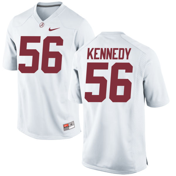 Men's Nike Brandon Kennedy Alabama Crimson Tide Game White Jersey