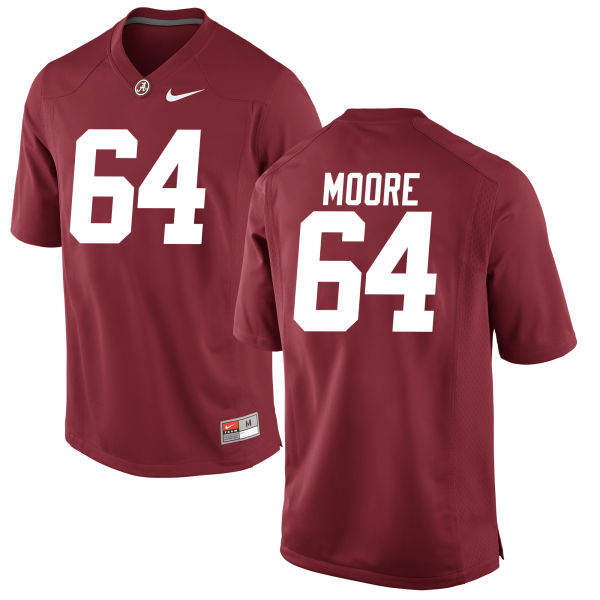 Men's Brandon Moore Alabama Crimson Tide Game Crimson Jersey