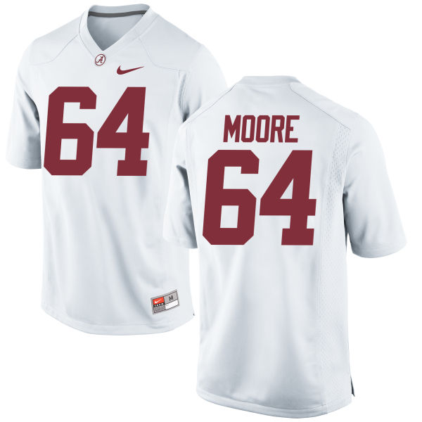 Men's Nike Brandon Moore Alabama Crimson Tide Game White Jersey
