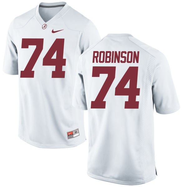 Men's Nike Cam Robinson Alabama Crimson Tide Game White Jersey