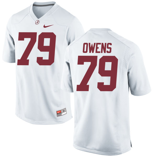 Men's Nike Chris Owens Alabama Crimson Tide Game White Jersey