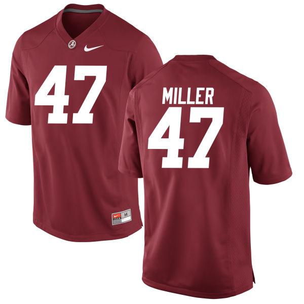 Men's Christian Miller Alabama Crimson Tide Authentic Crimson Jersey