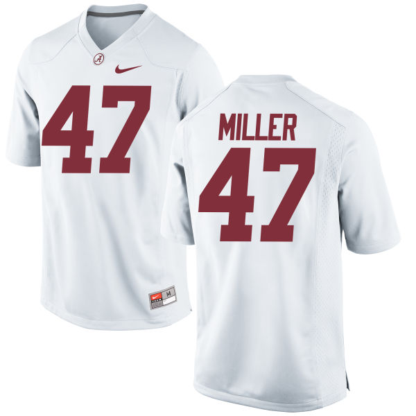 Youth Nike Christian Miller Alabama Crimson Tide Game White Jersey