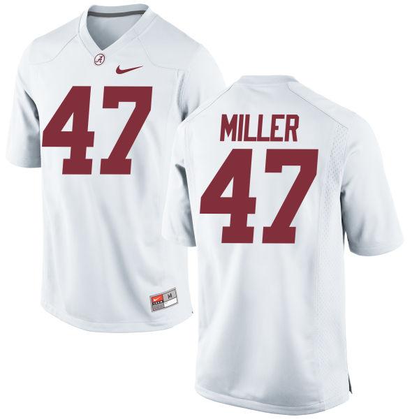Youth Nike Christian Miller Alabama Crimson Tide Game White Jersey