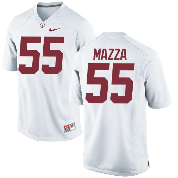 Men's Nike Cole Mazza Alabama Crimson Tide Game White Jersey