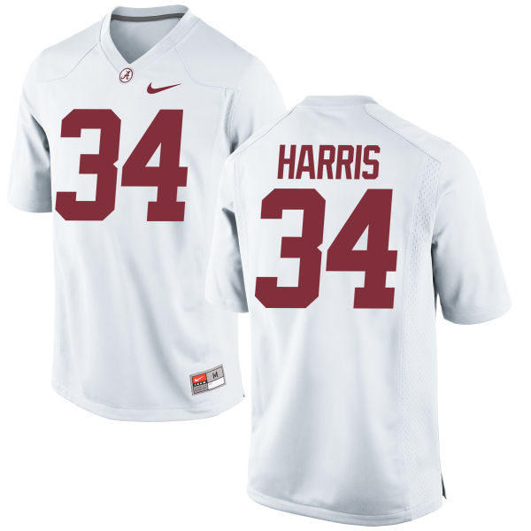 Women's Nike Damien Harris Alabama Crimson Tide Replica White Jersey