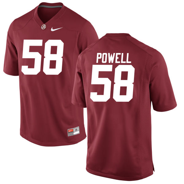 Men's Daniel Powell Alabama Crimson Tide Game Crimson Jersey