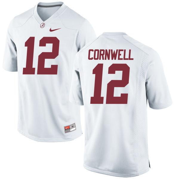 Men's Nike David Cornwell Alabama Crimson Tide Game White Jersey
