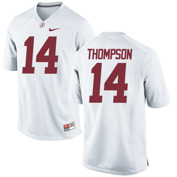 Women's Nike Deionte Thompson Alabama Crimson Tide Replica White Jersey
