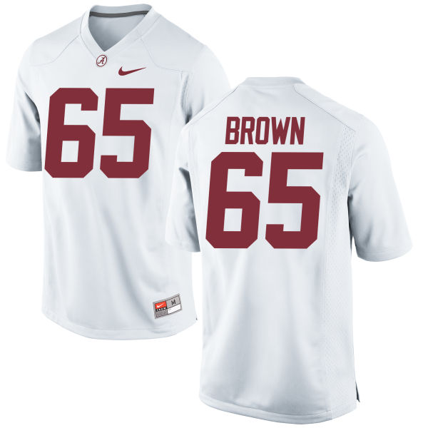 Men's Nike Deonte Brown Alabama Crimson Tide Game White Jersey