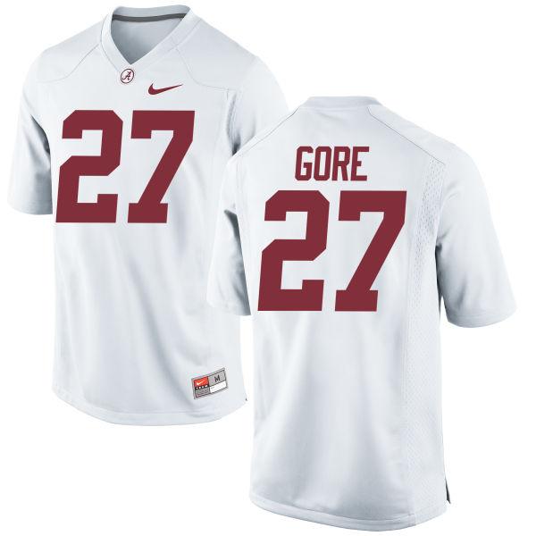 Men's Nike Derrick Gore Alabama Crimson Tide Replica White Jersey