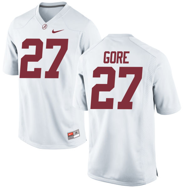 Men's Nike Derrick Gore Alabama Crimson Tide Game White Jersey