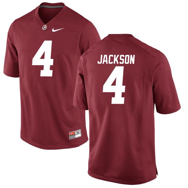 Men's Eddie Jackson Alabama Crimson Tide Game Crimson Jersey