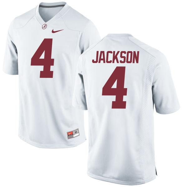 Men's Nike Eddie Jackson Alabama Crimson Tide Game White Jersey