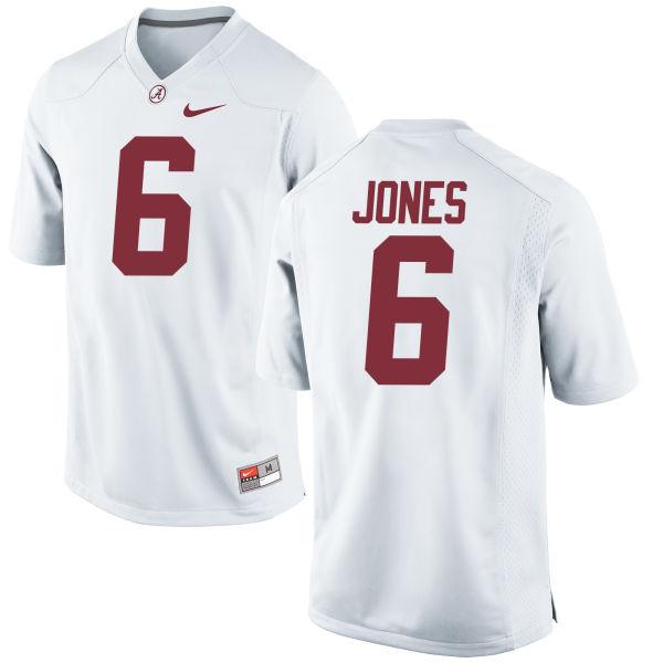 Men's Nike Hootie Jones Alabama Crimson Tide Replica White Jersey