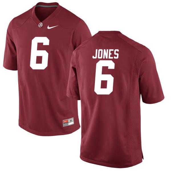Men's Hootie Jones Alabama Crimson Tide Authentic Crimson Jersey