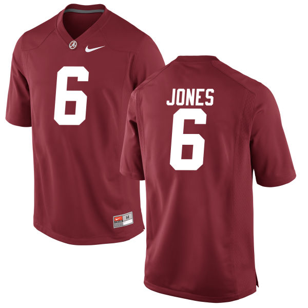 Men's Hootie Jones Alabama Crimson Tide Game Crimson Jersey