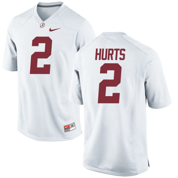 Men's Nike Jalen Hurts Alabama Crimson Tide Game White Jersey