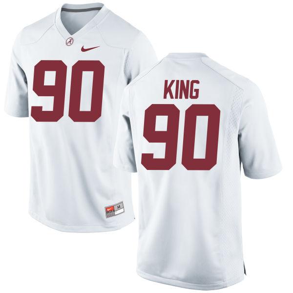 Men's Nike Jamar King Alabama Crimson Tide Game White Jersey