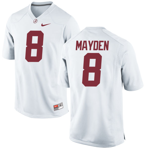 Men's Nike Jared Mayden Alabama Crimson Tide Replica White Jersey
