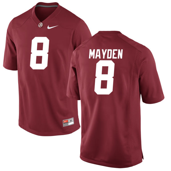 Men's Jared Mayden Alabama Crimson Tide Authentic Crimson Jersey