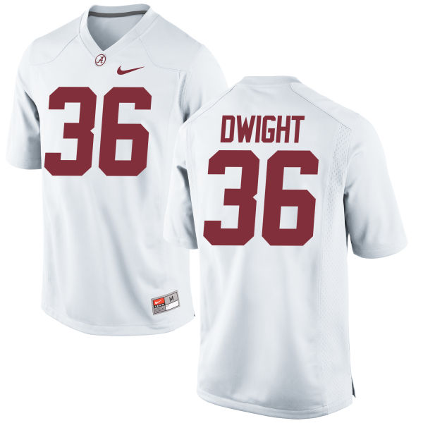 Men's Nike Johnny Dwight Alabama Crimson Tide Game White Jersey