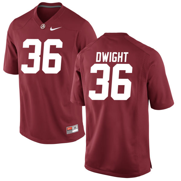 Youth Johnny Dwight Alabama Crimson Tide Authentic Crimson Jersey