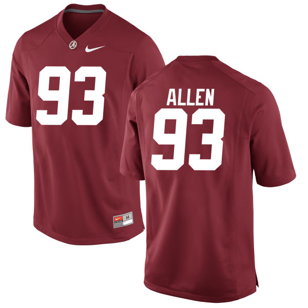 Men's Jonathan Allen Alabama Crimson Tide Authentic Crimson Jersey