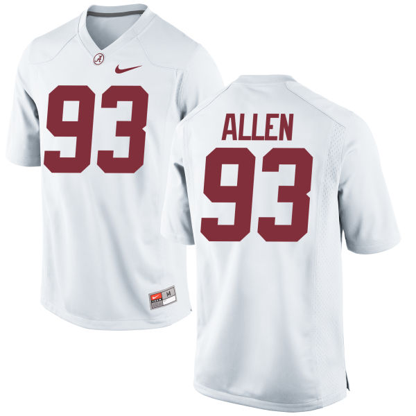 Women's Nike Jonathan Allen Alabama Crimson Tide Game White Jersey