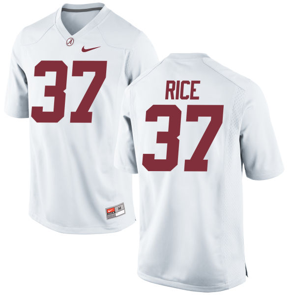 Men's Nike Jonathan Rice Alabama Crimson Tide Authentic White Jersey
