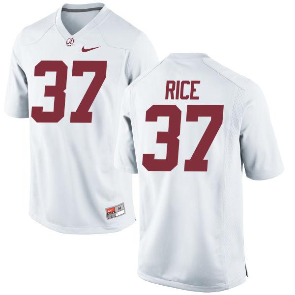 Men's Nike Jonathan Rice Alabama Crimson Tide Game White Jersey