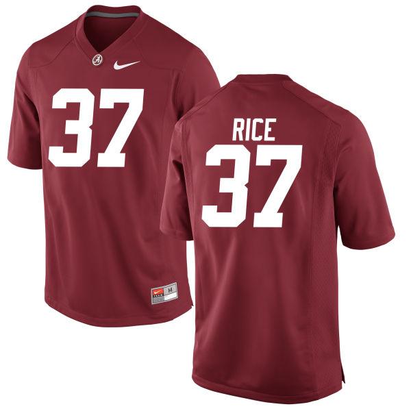 Youth Jonathan Rice Alabama Crimson Tide Authentic Crimson Jersey