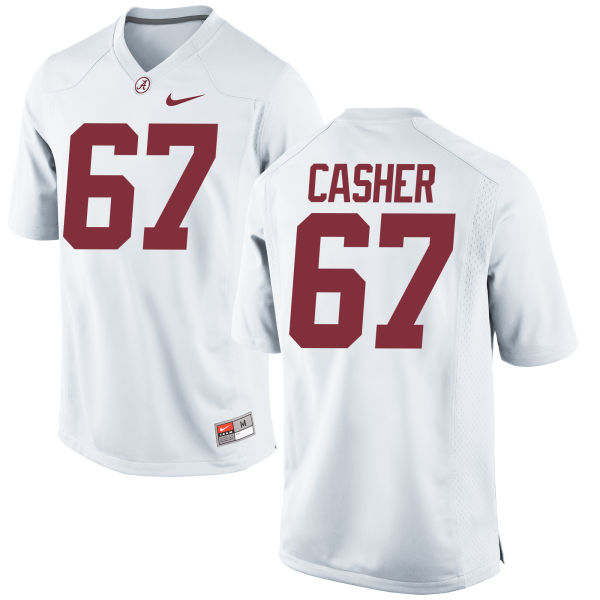 Men's Nike Josh Casher Alabama Crimson Tide Game White Jersey