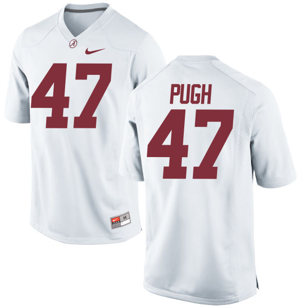 Men's Nike Josh Pugh Alabama Crimson Tide Game White Jersey