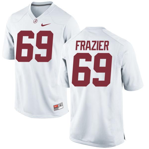 Men's Nike Joshua Frazier Alabama Crimson Tide Authentic White Jersey